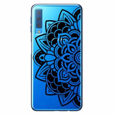 Etui na Samsung Galaxy A7 2018 - Kwiatowa mandala.