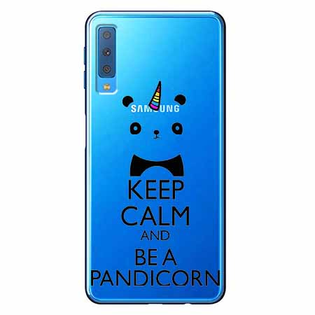 Etui na Samsung Galaxy A7 2018 - Keep Calm… Pandicorn.