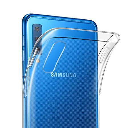 Etui na Samsung Galaxy A7 2018 - Watercolor piórko.