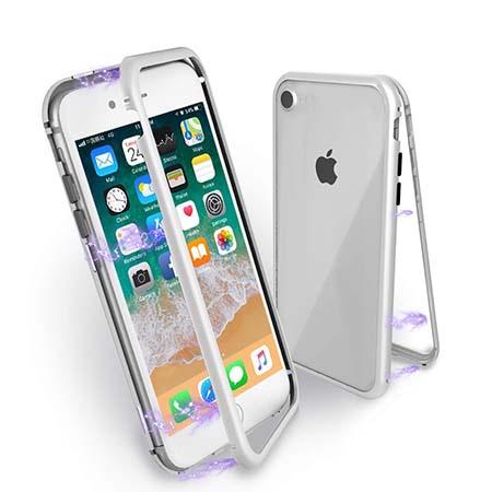 Etui metalowe Magneto na iPhone 7 - Srebrny