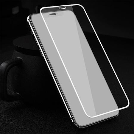 Apple iPhone XS hartowane szkło 5D Full Glue - Biały