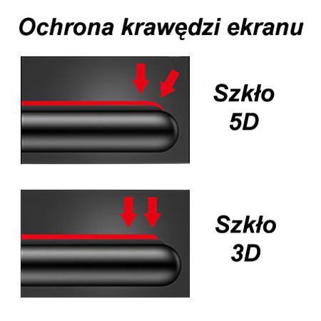 Samsung Galaxy S9 Plus - hartowane szkło 5D na cały ekran - Czarny.