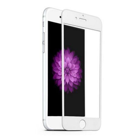 Apple iPhone 7 Plus - hartowane szkło 5D na cały ekran - Biały.