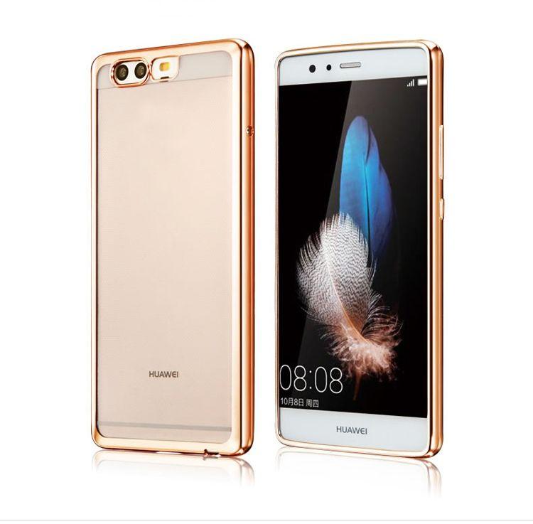 Platynowane etui na Huawei P10 Plus silikonowe SLIM tpu - złote.
