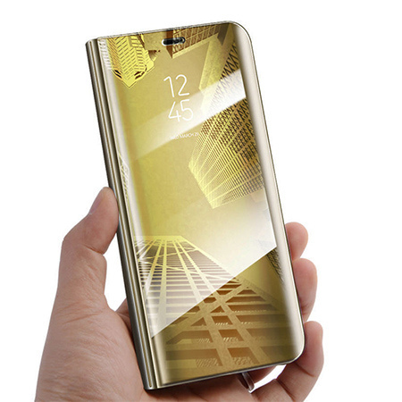 Etui na Xiaomi Mi A2 Lite - Flip Clear View z klapką - Złoty.