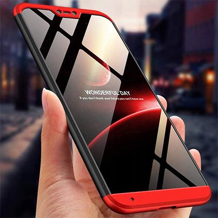 Etui na telefon Xiaomi Mi A2 Lite - Slim MattE 360 - Czarno/Czerwony.