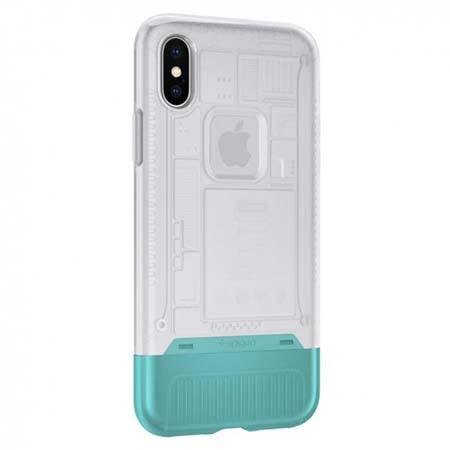 Etui Spigen na iPhone X - Classic biały