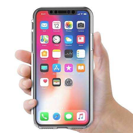 Etui na iPhone X - silikonowe 360 Full przód i tył - przezroczyste.