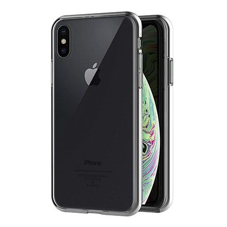 Etui na iPhone XS - silikonowe 360 Full przód i tył - przezroczyste.