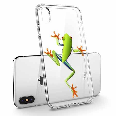 Etui na telefon Apple iPhone X - Zielona żabka.