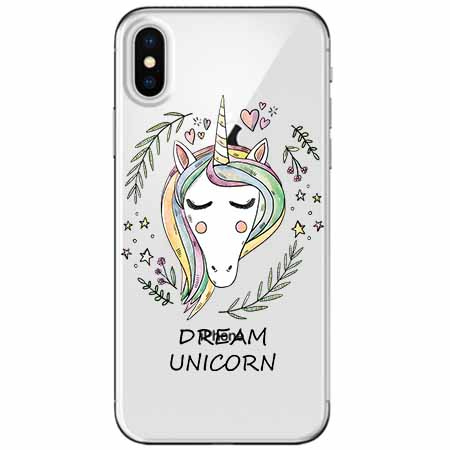 Etui na telefon Apple iPhone X - Dream unicorn - Jednorożec.