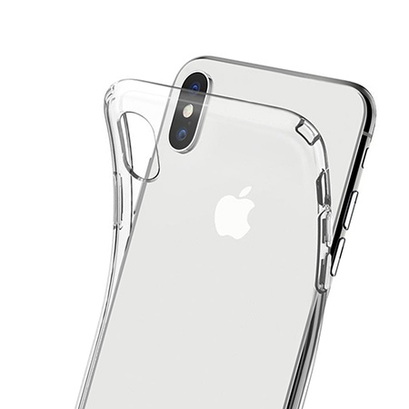 Etui na telefon Apple iPhone X - Jednorożec na tęczy.