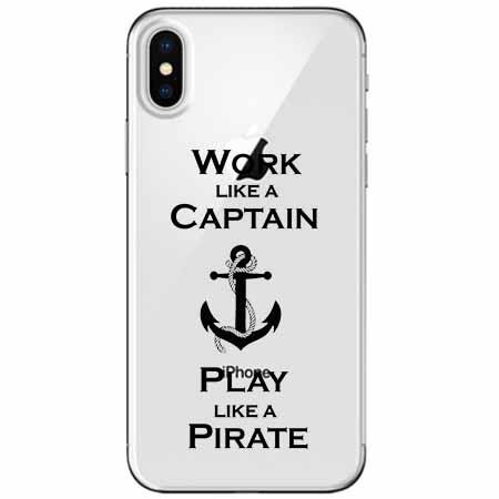 Etui na telefon Apple iPhone X - Work like a Captain…