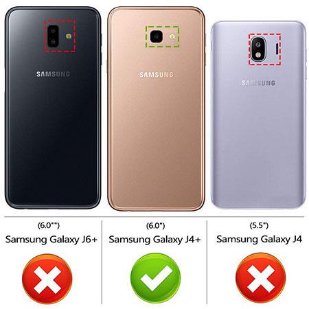 Etui na Samsung Galaxy J4 Plus - Złota czterolistna koniczyna.