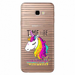 Etui na Samsung Galaxy J4 Plus - Time to be unicorn - Jednorożec.