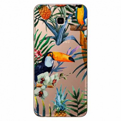 Etui na Samsung Galaxy J4 Plus - Egzotyczne tukany.