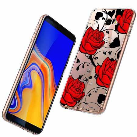Etui na Samsung Galaxy J4 Plus - Czerwone róże.
