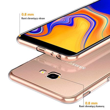 Etui na Samsung Galaxy J4 Plus - Watercolor piórko.