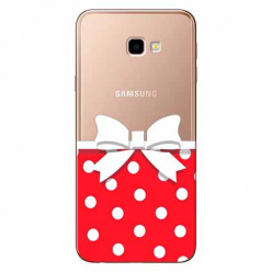 Etui na Samsung Galaxy J4 Plus - Gustowna kokardka.