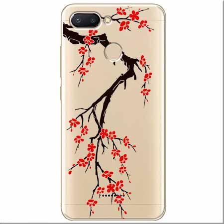 Etui na Xiaomi Redmi 6 - Krzew kwitnącej wiśni.