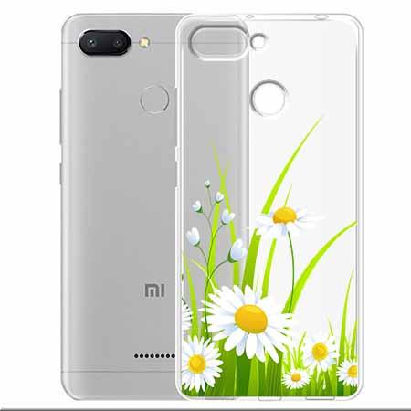 Etui na Xiaomi Redmi 6 - Polne stokrotki.