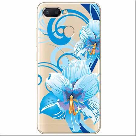 Etui na Xiaomi Redmi 6 - Niebieski kwiat północy.