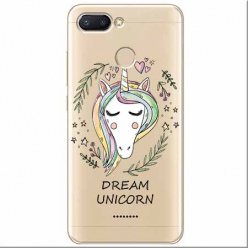 Etui na Xiaomi Redmi 6 - Dream unicorn - Jednorożec.