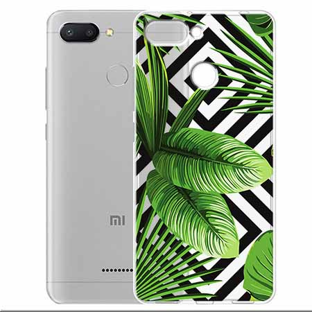 Etui na Xiaomi Redmi 6 -  Egzotyczne liście bananowca.