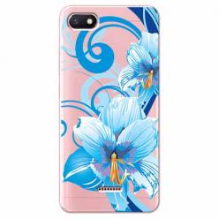 Etui na Xiaomi Redmi 6A - Niebieski kwiat północy.