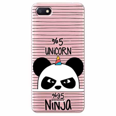 Etui na Xiaomi Redmi 6A - Ninja Unicorn - Jednorożec.
