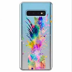 Etui na Samsung Galaxy S10 - Watercolor ananasowa eksplozja.