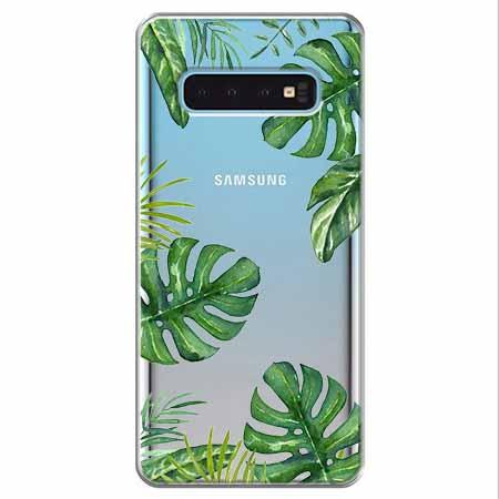 Etui na Samsung Galaxy S10 - Zielone liście palmowca