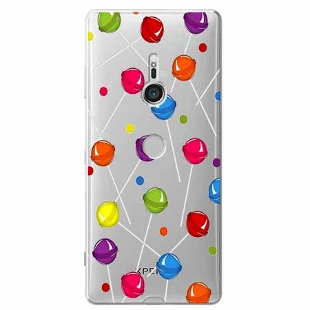 Etui na Sony Xperia XZ3 - Kolorowe lizaki.