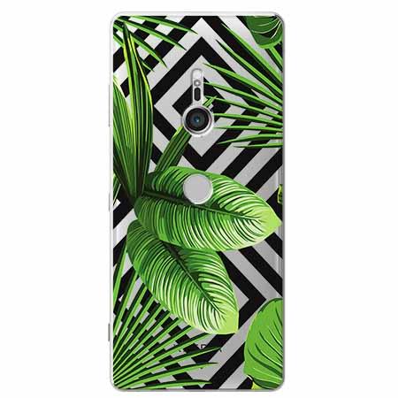Etui na Sony Xperia XZ3 -  Egzotyczne liście bananowca.