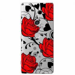 Etui na Sony Xperia XZ3 - Czerwone róże.