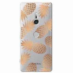 Etui na Sony Xperia XZ3 - Złote ananasy.