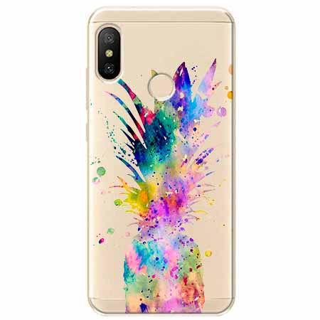 Etui na Xiaomi Mi A2 Lite - Watercolor ananasowa eksplozja.