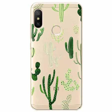 Etui na Xiaomi Mi A2 Lite - Kaktusowy ogród.