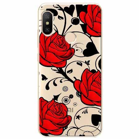 Etui na Xiaomi Mi A2 Lite - Czerwone róże.