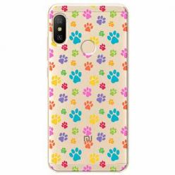 Etui na Xiaomi Mi A2 Lite - Kolorowe psie łapki.