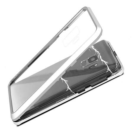 Etui metalowe Magneto Samsung Galaxy S9 Plus - Srebrny