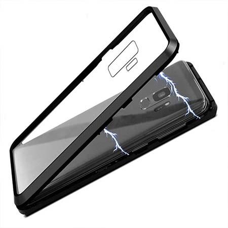 Etui metalowe Magneto Samsung Galaxy S9 Plus - Czarny
