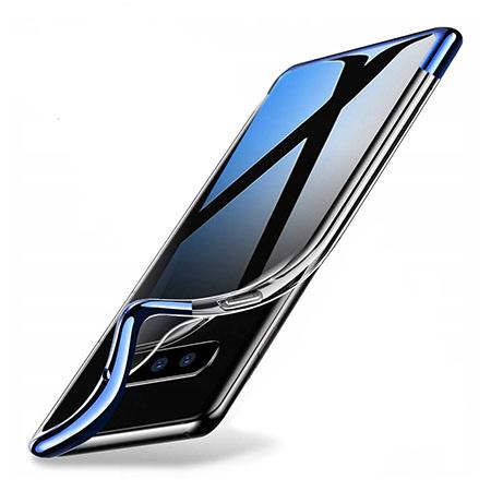 Etui na Samsung Galaxy S10e - silikonowe platynowane SLIM - Niebieski.