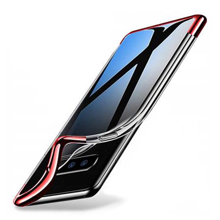 Etui na Samsung Galaxy S10 Plus - silikonowe platynowane SLIM - Czerwony.