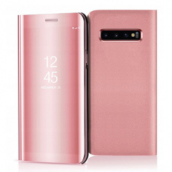 Etui na Samsung Galaxy S10 - Flip Clear View z klapką - Różowy.