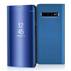 Etui na Samsung Galaxy S10 - Flip Clear View z klapką - Niebieski.