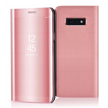 Etui na Samsung Galaxy S10e - Flip Clear View z klapką - Różowy.