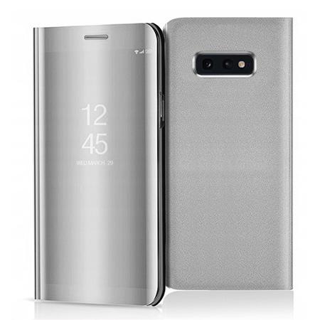 Etui na Samsung Galaxy S10e - Flip Clear View z klapką - Srebrny.