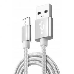 Kabel USB Typ-C do szybkiego ładowania QUICK CHARGE 3.0 - Srebrny.