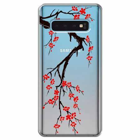 Etui na Samsung Galaxy S10 - Krzew kwitnącej wiśni.